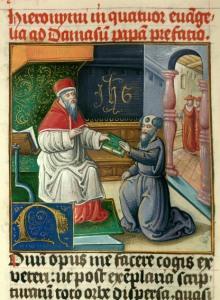 Saint Jérôme remettant son ouvrage à Damase 2