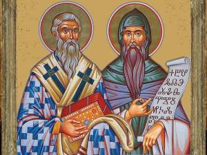 Saints-Cyril-and-Methodius-with-Glagolitic-Alphabet