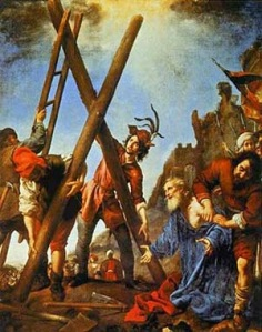 St Andrew salutes the cross